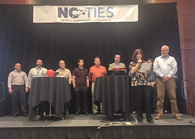 """MCNC Client Network Engineers (CNE) receive the """"Making IT Happen"""" Award at NCTIES18"""
