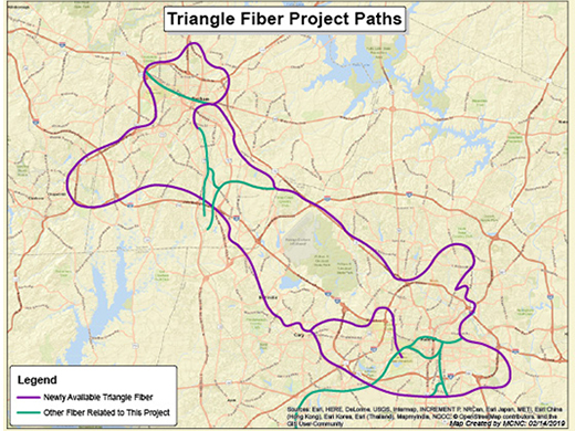 Triangle Fiber Project Paths